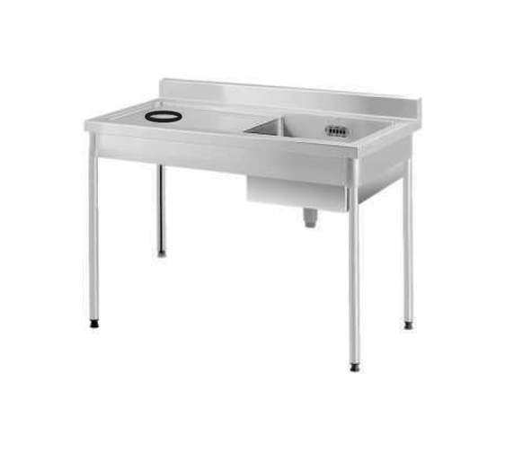 Soiled Table w Sink ETSBO 12-75 L/R