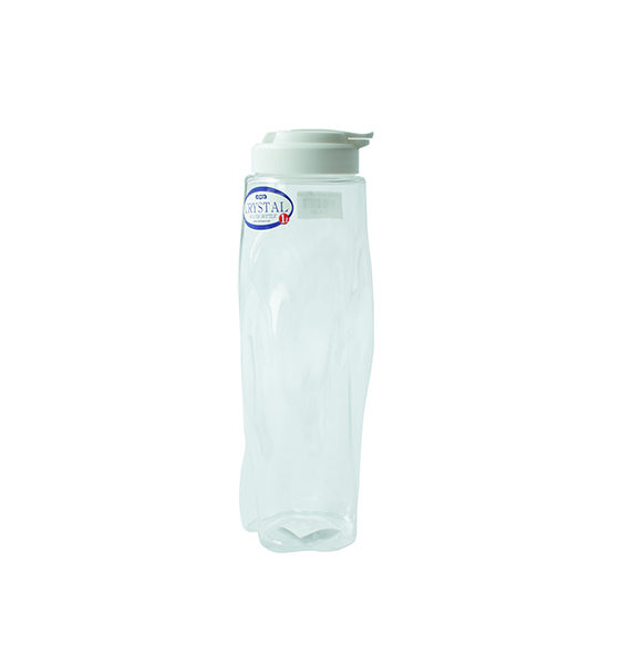 Crystal Water Bottle White 1 Liter