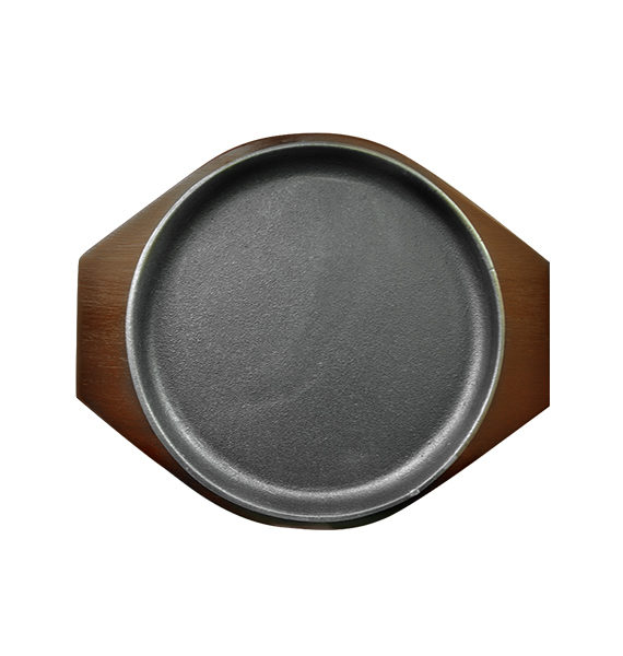 Hot Plate Round Shape with Wood