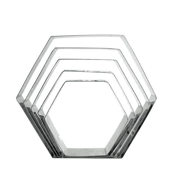 Hexagon Cake Ring Set