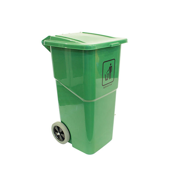 Foot Pedal Even-Cover Garbage Bin 120l