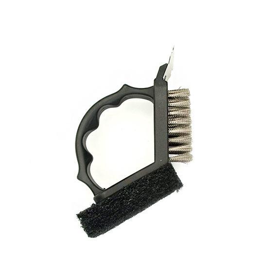 Black Plastic 2 In 1 Brush