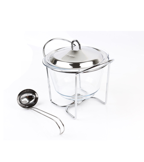 Round Food Warmer 4L With Ladle