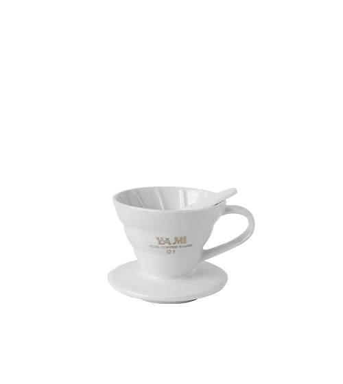 V60 Ceramic Dripper Flat Bottom 1-2 Cup