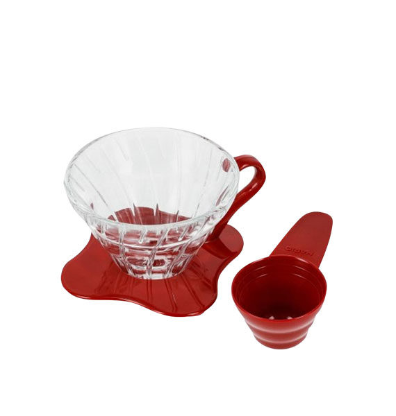 VDG-01R Glass Coffee Dripper V60 01 Red