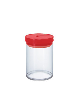 1162042 Mcn-200R Glass Canister M 800Ml Red
