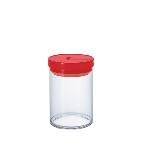Mcn-200R Glass Canister M 800Ml Red
