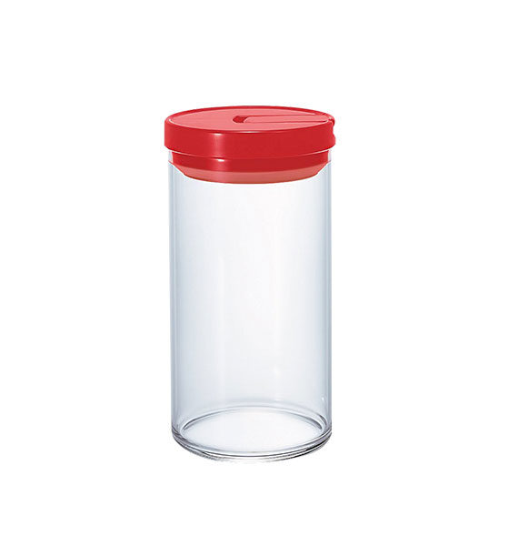 Mcn-300R Glass Canister L 1000Ml Red