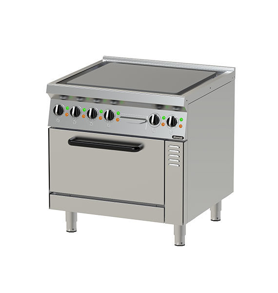 Electric Hot Top Plates w/ Oven NEHT 8-75 OV (MR)