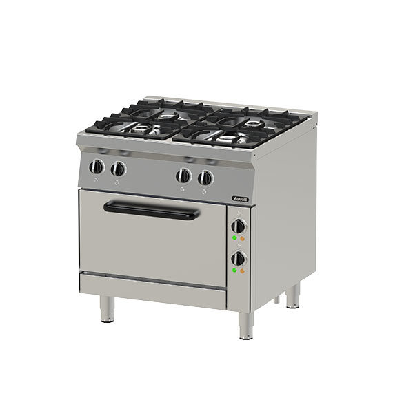 Gas Open Burners with Oven NGR 8-75 (MR)